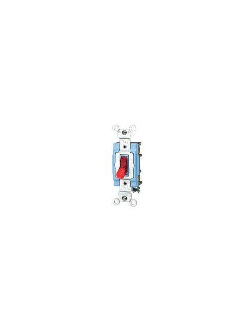 Leviton 1203-PLR 15 Amp 120 Volt Pilot Light Illuminated ON Red Toggle 3-Way AC Quiet Switch