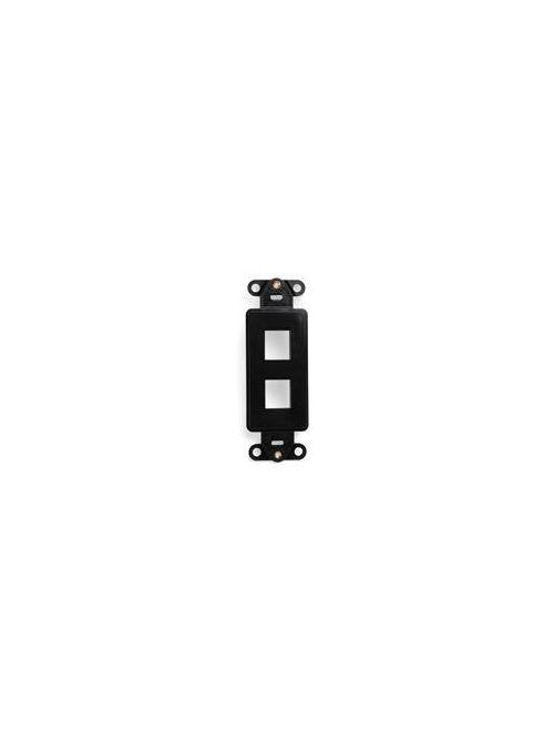 QuickPort Decora Insert, 2-Port, Black