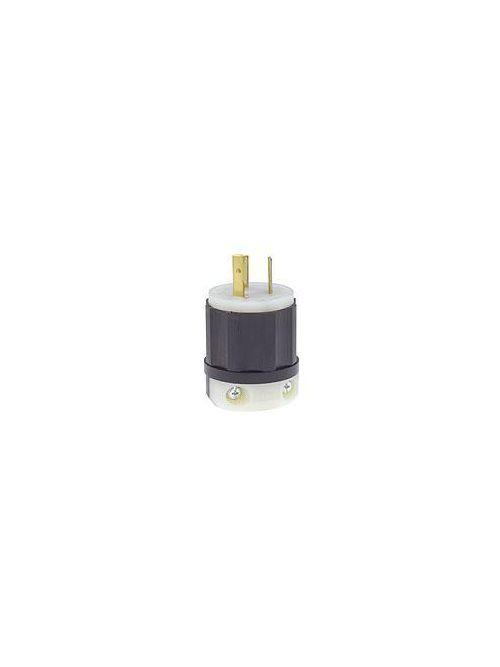 Leviton 2331 20 Amp 277 Volt NEMA L7-20P 2-Pole 3 Wire Industrial Grade Grounding Black/White Locking Plug