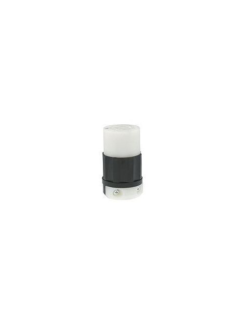 Leviton 2363 20 Amp 125/250 Volt NEMA L10-20R 3-Pole 3 Wire Industrial Grade Non-Grounding Black/White Locking Connector