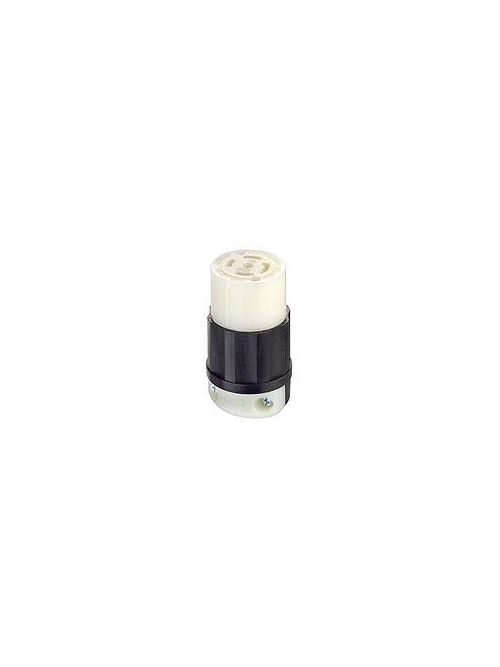 Leviton 2813 30 Amp 120/208 Volt 3PY NEMA L21-30R 4-Pole 5 Wire Industrial Grade Grounding Black/White Locking Connector