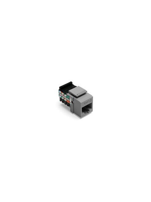 Leviton 41108-RG5 Category 5 Gray Plastic Snap-In 8-Position 8-Conductor UTP Jack Connector