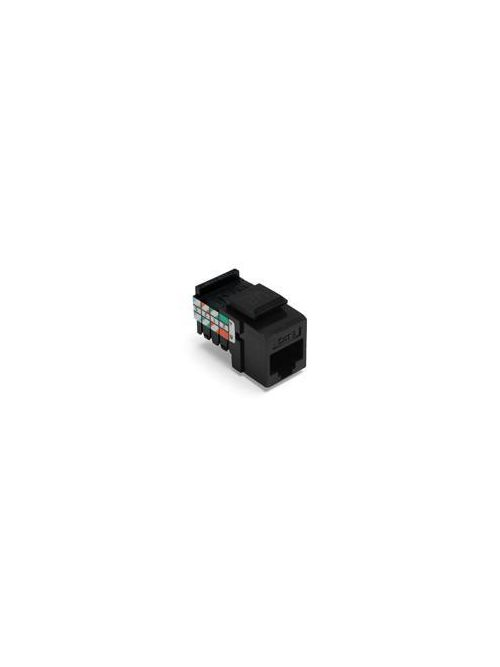 Leviton 41108-RE5 Category 5 Black Plastic Snap-In 8-Position 8-Conductor UTP Jack Connector