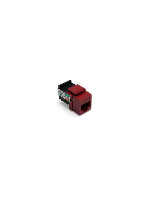 Leviton 41108-RR5 Category 5 Red Plastic Snap-In 8-Position 8-Conductor UTP Jack Connector