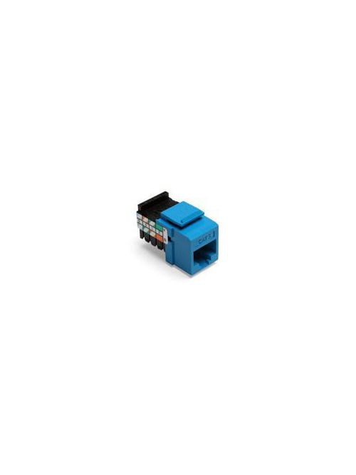 Leviton 41108-RL5 Category 5 Blue Plastic Snap-In 8-Position 8-Conductor UTP Jack Connector