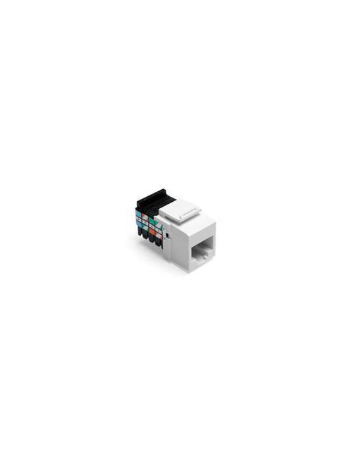Leviton 41108-RW3 Category 3 White Plastic Snap-In 8-Position 8-Conductor UTP Jack Connector