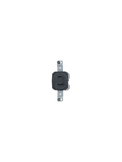 Leviton 7535 125 Volt 15 Amp 2-Pole 2-Wire NEMA L1-15R Black Nylon Non-Grounding Locking Receptacle