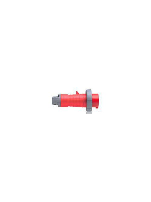Leviton 320P7W 480 Volt 20 Amp 2-Pole 3-Wire Red Resin 357 IP67 IEC Pin and Sleeve Plug