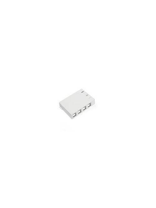 LEVITON 41089-4WP WHITE 4-PORTSURFACE MOUNT BOX