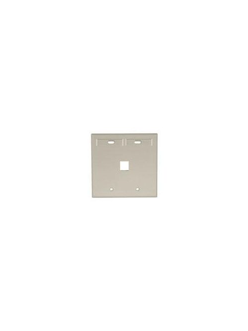 Leviton 42080-1IP Dual Gang 1-Port Ivory QuickPort Wallplate with ID Windows
