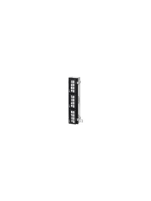 Leviton 47689-QP 2.375 x 10 Inch 12-Port Extra Deep Multimedia Patch Block with Mounting Bracket