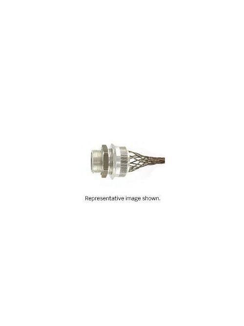 Leviton L7719 1 Inch Straight Male Aluminum Body Deluxe Cord Sealing .875 - 1.000 Inch Cord Range Strain-Relief