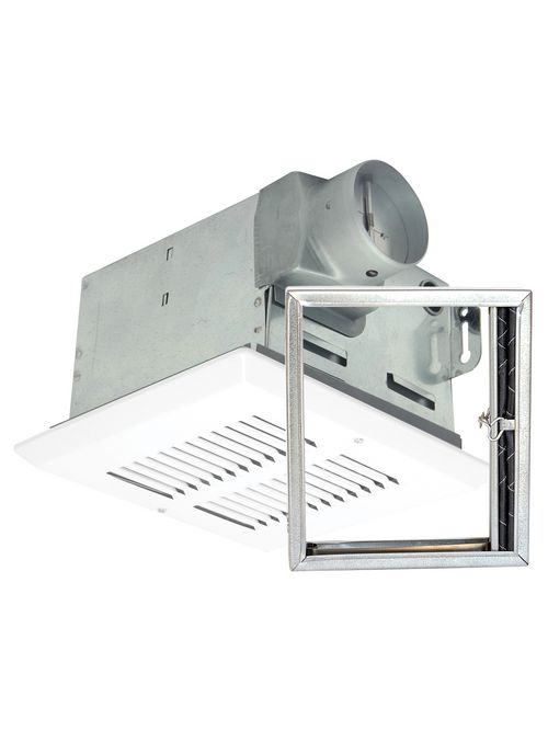 Air King FRAK110 4 Inch 110 CFM 2 Sones White Metal Grill Fire Rated Exhaust Fan