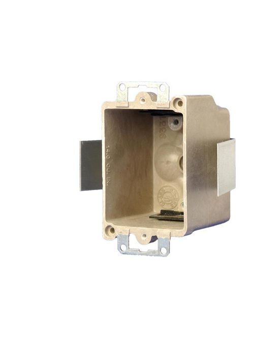 """Allied Moulded 9331-ESK 2-1/2 x 2-3/8"""" 3-1/4"""" 14"""" 1-Gang Fiberglass Switch/Receptacle Outlet Box"""