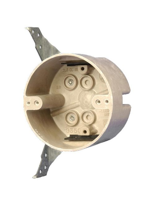Allied Moulded Products 9350-HFK 2-3/8 x 4 Inch 22.5 In Fiberglass Round Ceiling Fixture Outlet Box