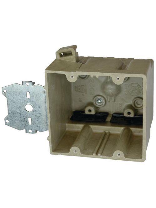 37 CI 2G DEVICE BOX 1/2IN HGR KLAMPS