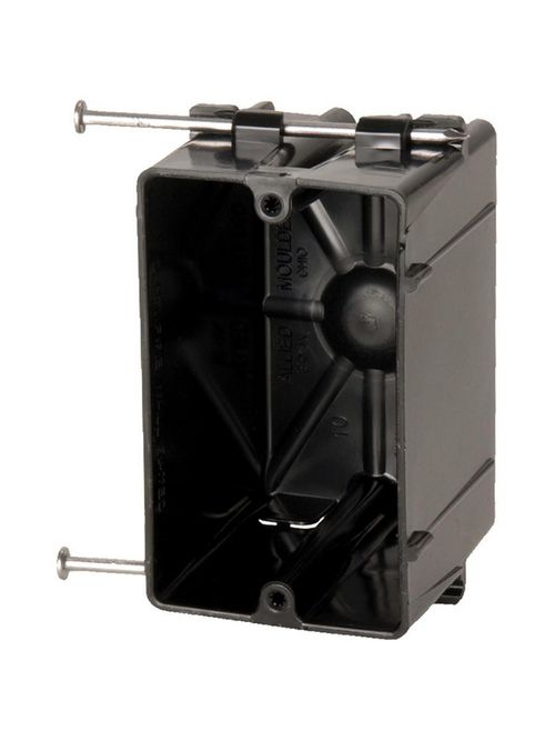 Allied Moulded Products P-181 2-5/8 x 2-1/4 x 3-3/4 Inch 18 In 1-Gang Angled Mid-Nail Switch/Receptacle Outlet Box
