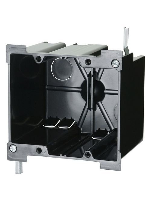 Allied Moulded Products P-240OW 3-25/64 x 4-7/64 x 3-11/16 Inch 40 In 2-Gang Polycarbonate Switch/Receptacle Outlet Box