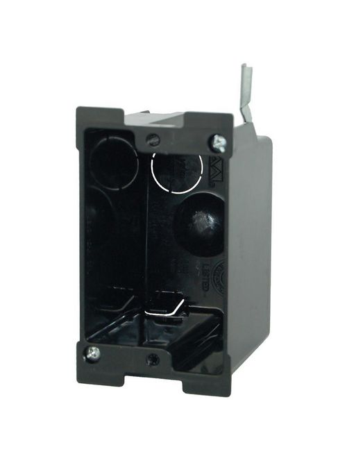 Allied Moulded Products P-116OW 2-5/8 x 2-3/8 x 3-11/16 Inch 1-Gang PVC Switch/Receptacle Outlet Box