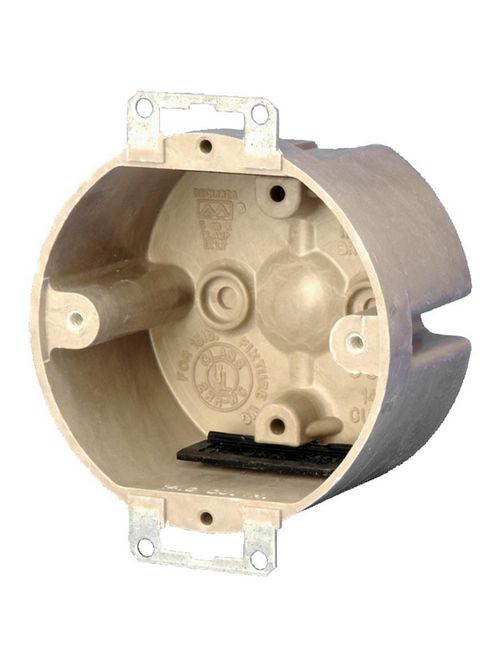 Allied Moulded Products 9338-EK 2 x 3-1/2 Inch 14 In Fiberglass Round Fixture Outlet Box