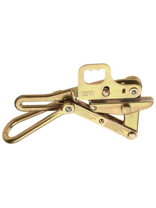 Klein Tools 1684-5H 0.21 to 0.55 Inch 8000 lb Forged Steel Double V-Grooved Pulling Grip with Latch