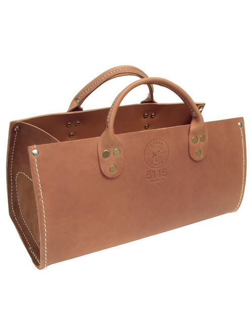 Klein Tools 5115 15 x 7 x 6-1/2 Inch Leather Tote Bag