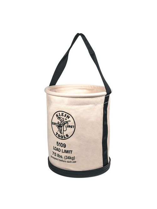 Klein 5109 12 x 15 Inch Canvas Wide Opening Straight Wall Bucket