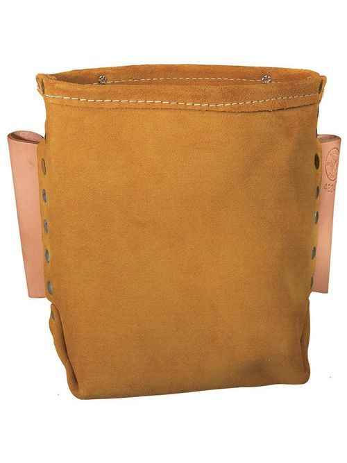 Klein Tools 42247 5 x 8-1/2 Inch Split Leather Tunnel Tool Bag
