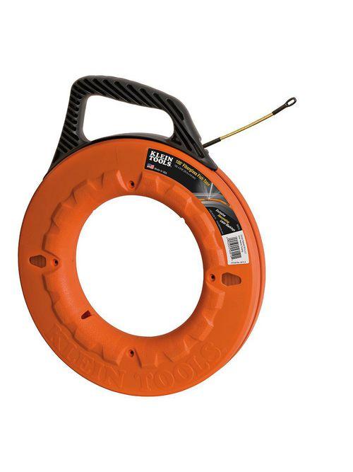 Klein 56010 3/16 Inch x 100 Foot 500 lb Non-Conductive Fiberglass Flexible Fish Tape