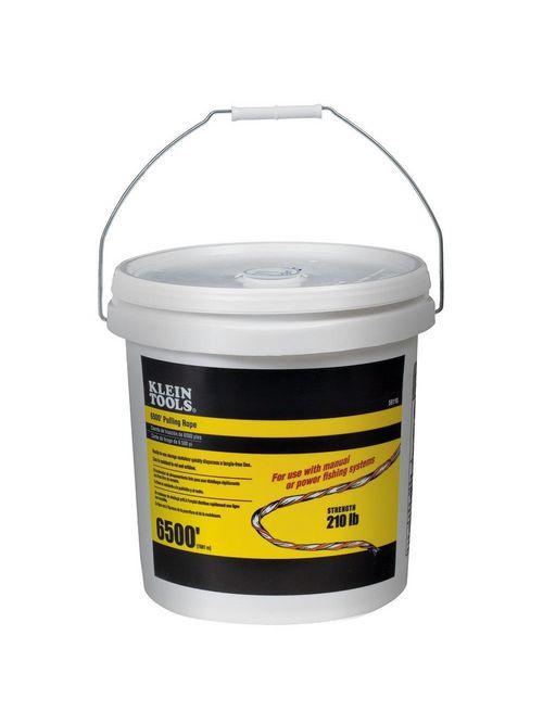 Klein 56110 210 lb 5 Gallon Bucket Polypropylene Fish Tape Pull Line with Orange Tracer