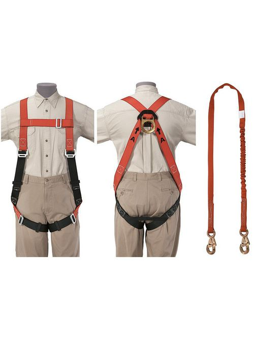 Klein Tools 87150 Fall Arrest Harness and Deceleration Lanyard Set