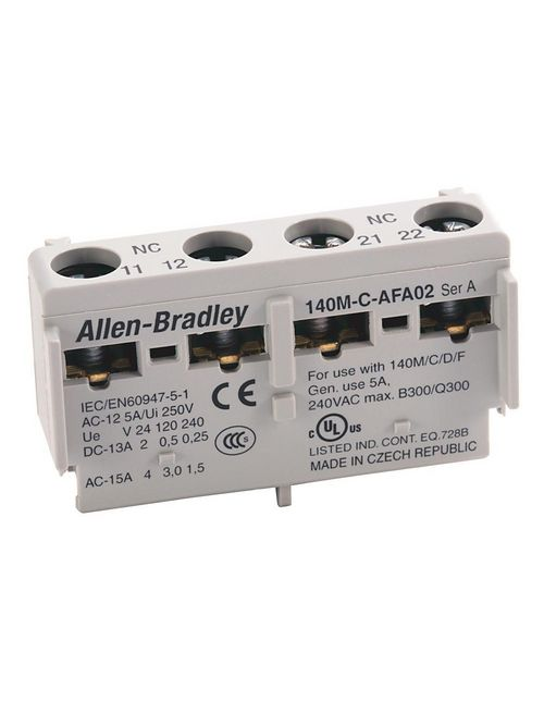 Allen-Bradley 140M-C-AFAR10A10 2 NO Internal Auxiliary Contact