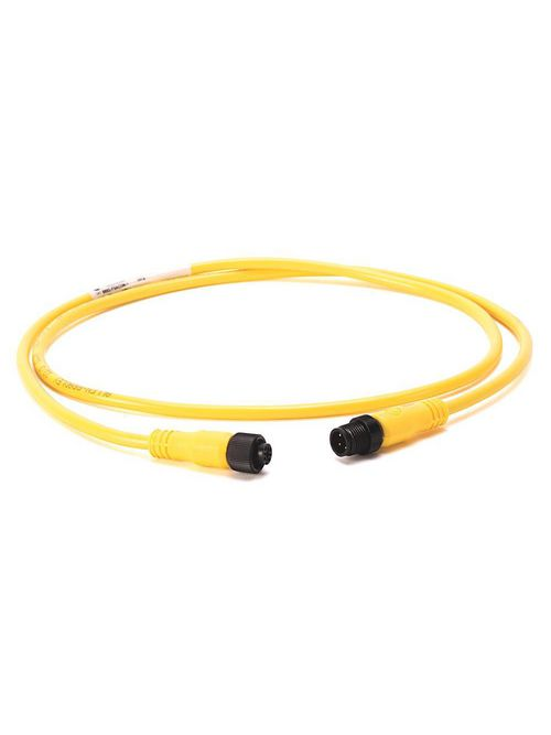 Allen-Bradley 889D-F3ACDM-2 3-Pin Yellow Unshielded DC Micro Female to Male Straight Connector PVC Cable