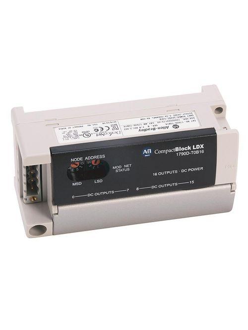 Allen-Bradley 1790D-T0B16 Compactblock LDX 16-Point O/P Base Block
