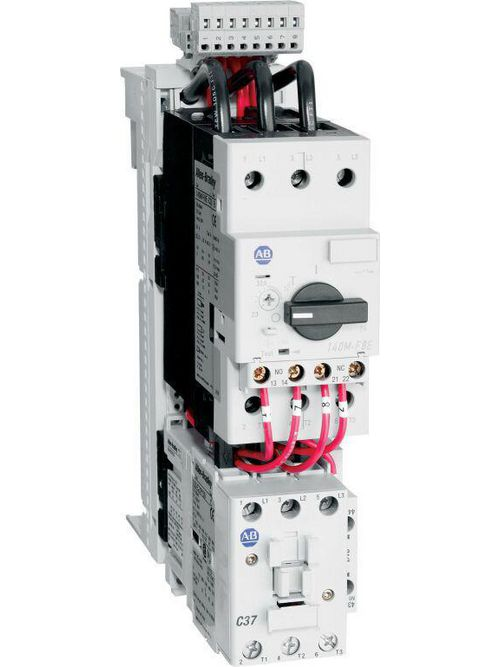 Allen-Bradley 103S-FTD2-FC32C IEC Combination Starter, 100-C37, 110V 50Hz / 120V 60Hz, 1 N.O. 0 N.C., 140M-F8E (F-Frame), High Break Plus, Internal Auxiliary Contact 1 N.O. + 1 N.C., No Side Mount Aux. or Trip Contacts