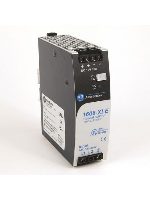 Allen Bradley 1606-XLE96B-2 480 VAC 12 VDC 3-Phase 96 watt Power Supply
