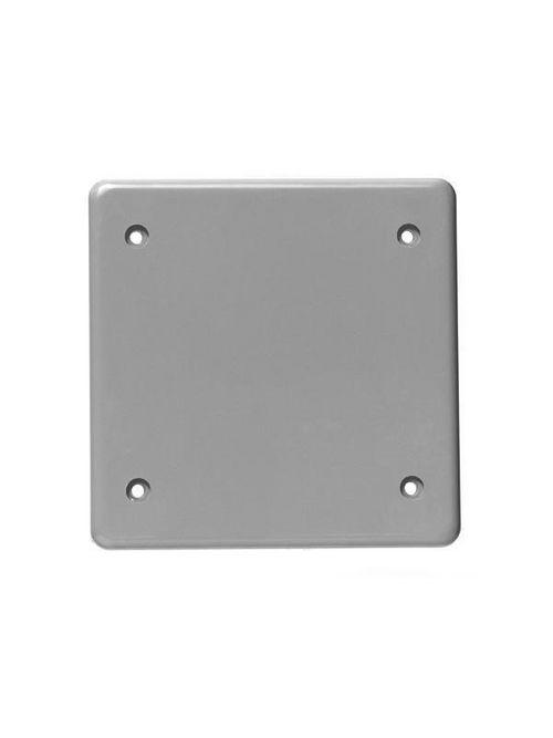 IPEX 278085 Kraloy BRC20-2-U PVC 2-Gang Blank Cover Plate with Gasket