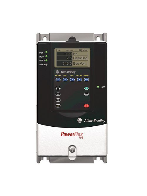Allen-Bradley 20AB4P2A0AYNNNC0 Powerflex 70 4.2 Amp at 1 Hp AC Drive