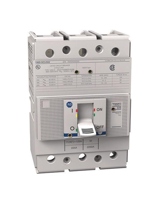Allen Bradley 140G-I3C3-D10 225 Amp I-Frame Molded Case Circuit Breaker