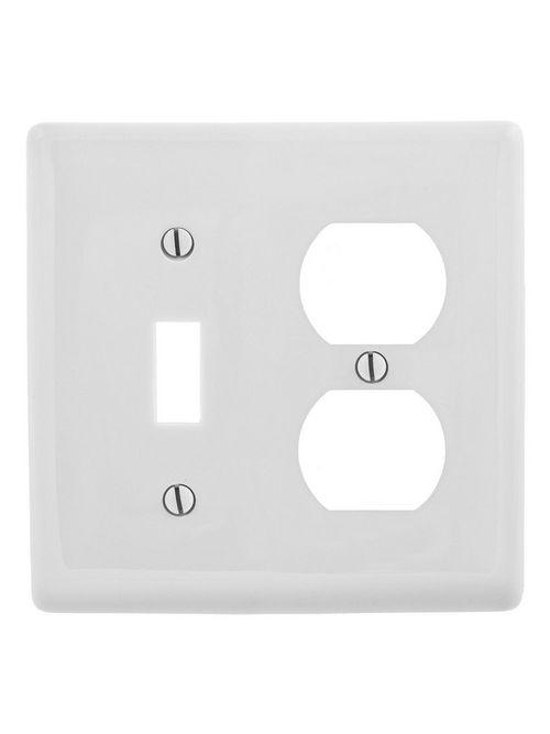 HWDK NP18OW WALLPLATE, 2-G, 1) DUP