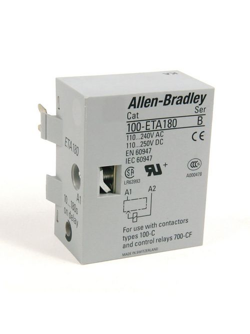 Allen Bradley 100-ETY30 110 to 240 Volt 50/60 Hz Transition Time Y Contactor 1 to 30 Sec Electronic Timing Module
