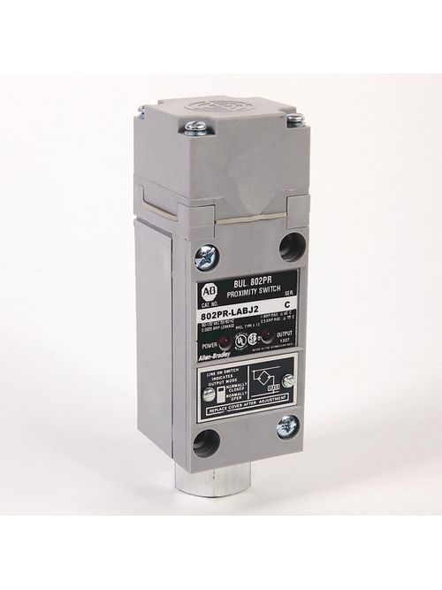 Allen-Bradley 802PR-LABJ2 2-Wire AC High Output 14 mm Distance Top Sensing Shielded NO/NC Proximity Sensor