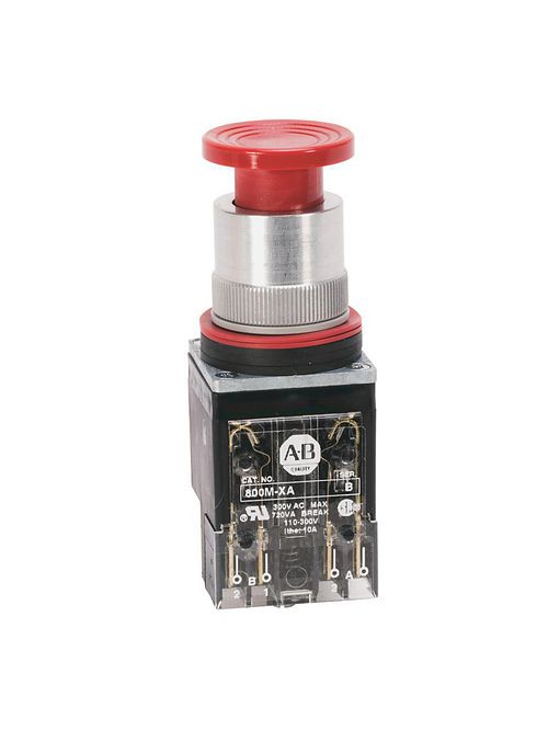 Allen-Bradley 800MR-D6AK Mushroom 22.5 mm Round NEMA Push Button