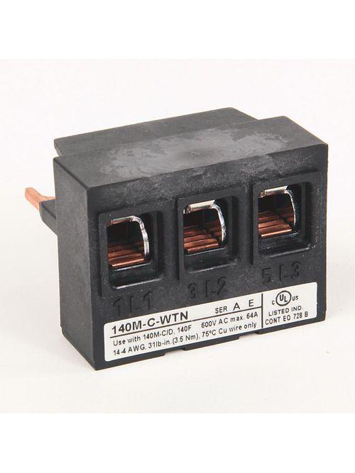 Allen Bradley 140M-C-WTN Motor Protection Circuit Breaker Feeder Terminal