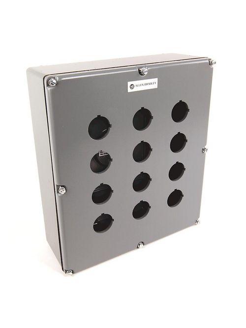 Allen-Bradley 800T-12TZ 30 mm Push Button Type 4/13 12-Hole Die-Cast Enclosure