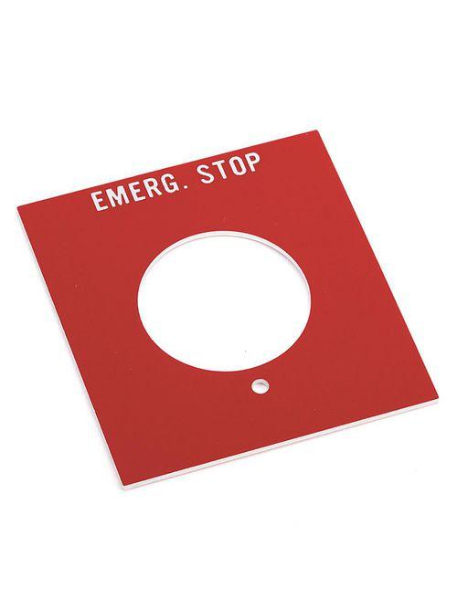 Allen Bradley 800H-Y49 Start-Stop Standard Push Button Legend Plate