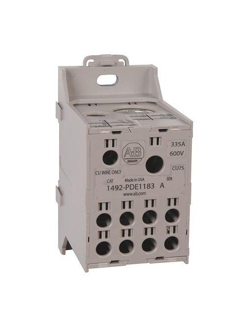 Allen-Bradley 1492-PDE1183 335 Amp Enclosed Power Distribution Block