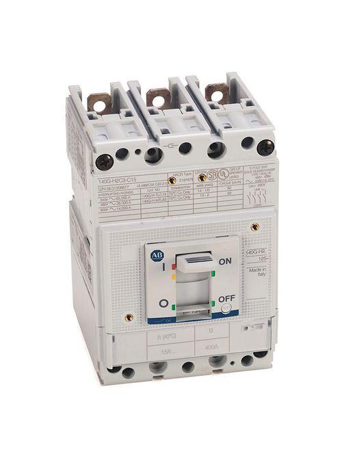 Allen Bradley 140G-H2C3-C15 125 Amp H-Frame Molded Case Circuit Breaker
