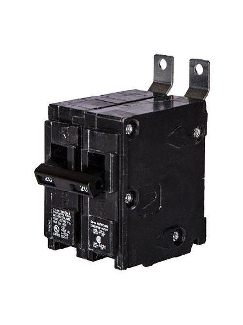 Siemens Industry B220AFCH 2-Pole 20 Amp 120/240 VAC 22 kA Arc Fault Circuit Interrupter