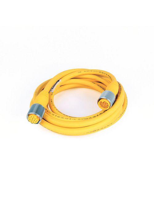 Allen-Bradley 889N-F12AFNU-5 Patchcord: Mini/Mini Plus Female Straight 12 Pin PVC Yellow Unshielded Cable